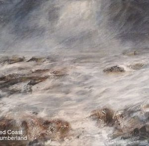 Barbara Cole Rugged coastline Northumberland 66x49cm Acrylic on canvas NFS 1