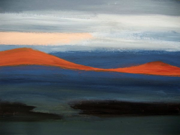 Carmen Gordon Cheviot Dawn Acrylic on paper framed 52x42cm 80