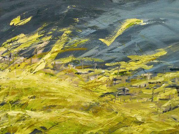 Carmen Gordon Midsummer meadow Acrylic on paper Framed 52x42cm 80