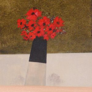 Jackie Hurworth Scarlet Poppies 31x31cm 125