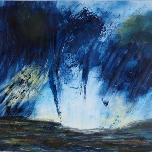 Jane Mann Cheviots 3 Mixed media on paper 55x55cm NFS