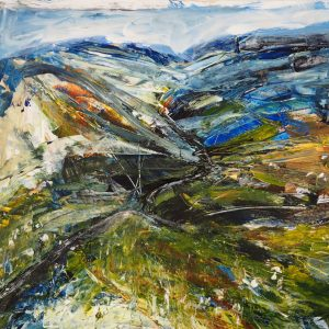 Jane Mann Cheviots 2 Acrylic on paper 29x39 NFS