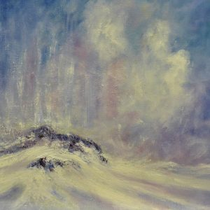 Mike Toole Visions of Northumberland winter 4 Oil and cold wax on canvas 51x41cm 120