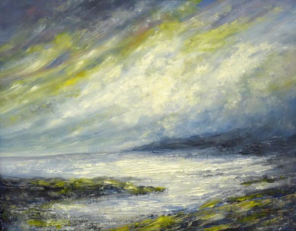 Mike Toole Visions of northumberland 2 Oil and cold wax on canvas 51x41cm 120