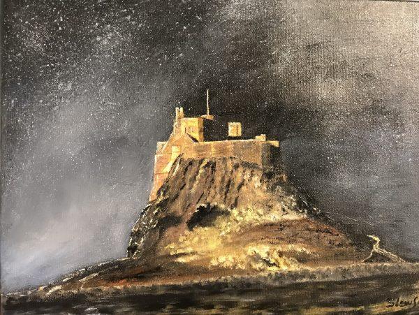 Susie Lawson Lindisfarne castle 41x31cm oil oncanvas 95
