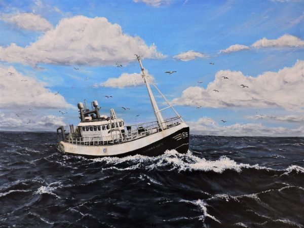 Tony Simpson Heading Home 61x46cm acrylic on canvas 175