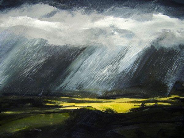 Carmen Gordon Over Coquetdale Acrylic on canvas 52x42cm 80