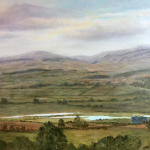 Susie Lawson Chatton Fishing lakes oil on 61x46cm canvas 90