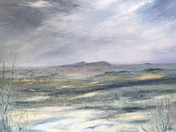 Susie Lawson Simonside from West Thirston oil on canvas 46x36cm 90